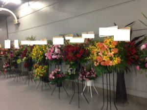 並んだスタンド花