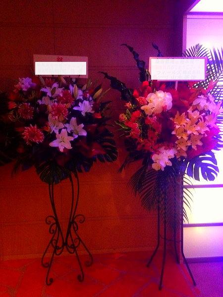 ニューヨークボールルームへスタンド花