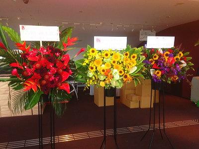 赤坂アクトシアターにスタンド花