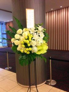 白グリーン系スタンド花