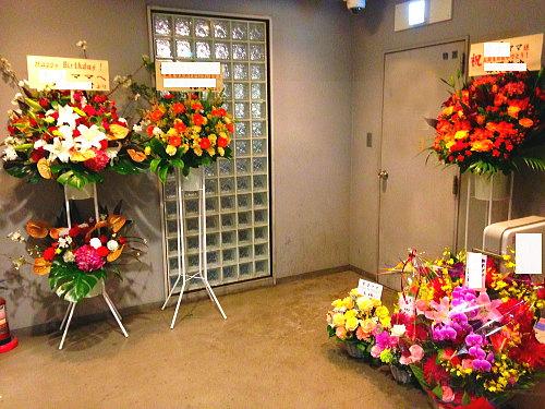 スナックママの誕生日に祝い花
