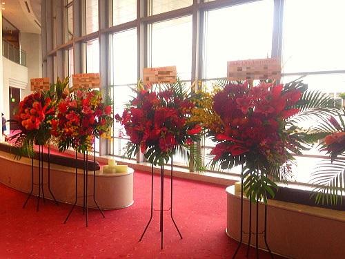フラの発表会にお祝い花