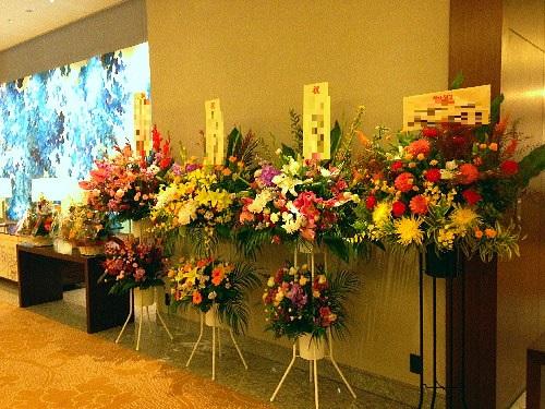 パレスホテル東京へ贈るスタンド花
