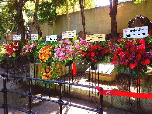 野音に公演祝い花
