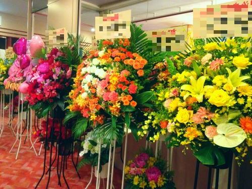 ホステスの誕生日に贈るスタンド花