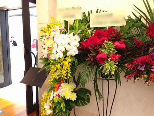 お店入り口の祝い花